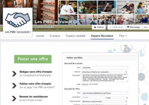 """La page facebook """"Les PME recrutent"""""""