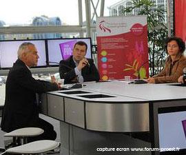 Les plateaux TV du forum pro-est de Belfort