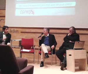 Arnaud Lobez aux voeux 2015 de la CGPME du territoire de Belfort