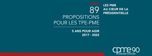 Election présidentielle - 89 propositions pour les TPE - PME par la CPME