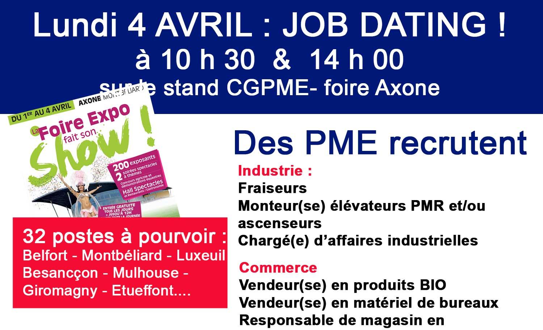 Job Dating CGPME - Lundi 4 avril 2016 - Axone
